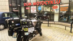 Odjezd od Domu Motocyklů v Ostravě