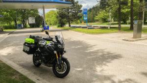 První zastávka na poslední pumpě v ČR, na pumpě v Ostravici