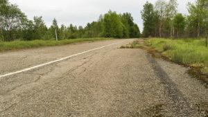 Jedna z dnes už neexistujících silnic k elektrárně
