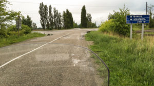 Po odbočení doleva se po pěti kilometrech dojelo ke vstupu do zóny - Ditjatki