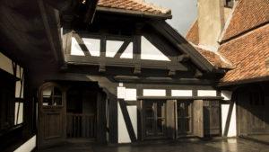 V ochozech filmového hrady Drákuly v obci Bran