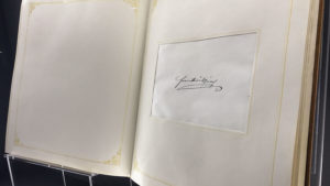 Podpis Fratiška Josefa z návštěvy pivovaru