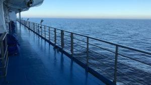 Nuda během dvoudenní plavby