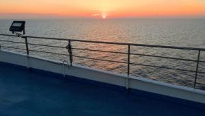Západ slunce kdesi v Alboránském moři