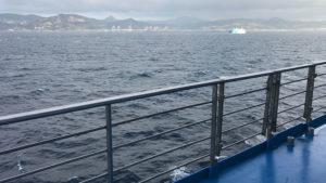 Africké přehy, v dálce přístav Tanger-Med