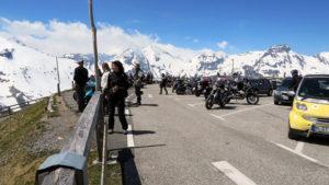 Parkoviště na vrcholu Edelweisspitze