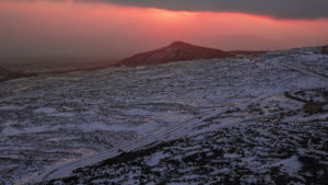 Západ slunce pod Etnou