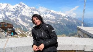 Lenka na vrcholu hory Edelweisspitze