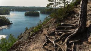 Výhled na jezera v přírodní rezervaci Repovesi