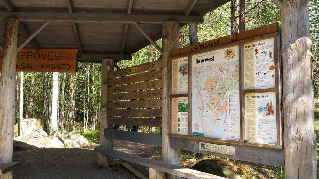 Přírodní rezervace Repovesi, cestopis