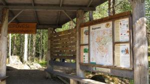 Vstup do přírodní rezervace Repovesi