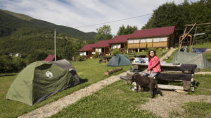Areál ubytování v Koločavě