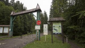 Vstup do národního parku Hoverla