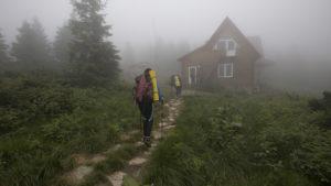 U útulen, asi hodina chůze na vrchol nejvyšší hory Ukrajiny, Hoverly