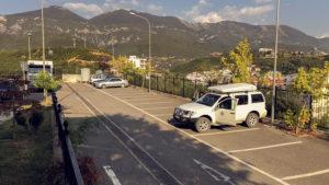 Parkoviště u lanovky do parku Dajti