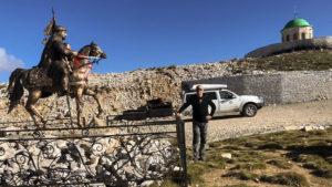 Na konci cesty k vrcholu hory Tomorr