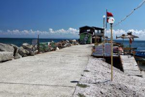 Na poloostrově Nessebar na břehu Černého moře