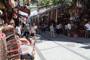 Na tržnici v Istanbulu
