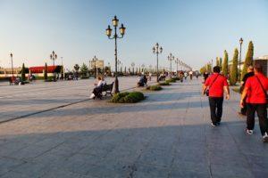 Na promenádě ve městě Samsun, na pobřeží Černého moře