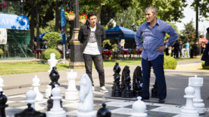 Na bulváru jsem také chvíli sledoval tento šachový zápas dvou mužů.