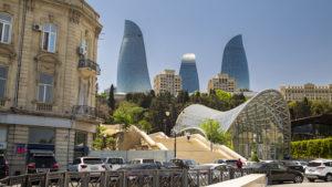 Mrakodrapy Flame Tower jsou ze všech mrakodrapů v Baku asi ty nejhezčí.