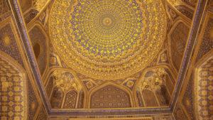 Výzdoba staveb v Samarkandu je nádherná!